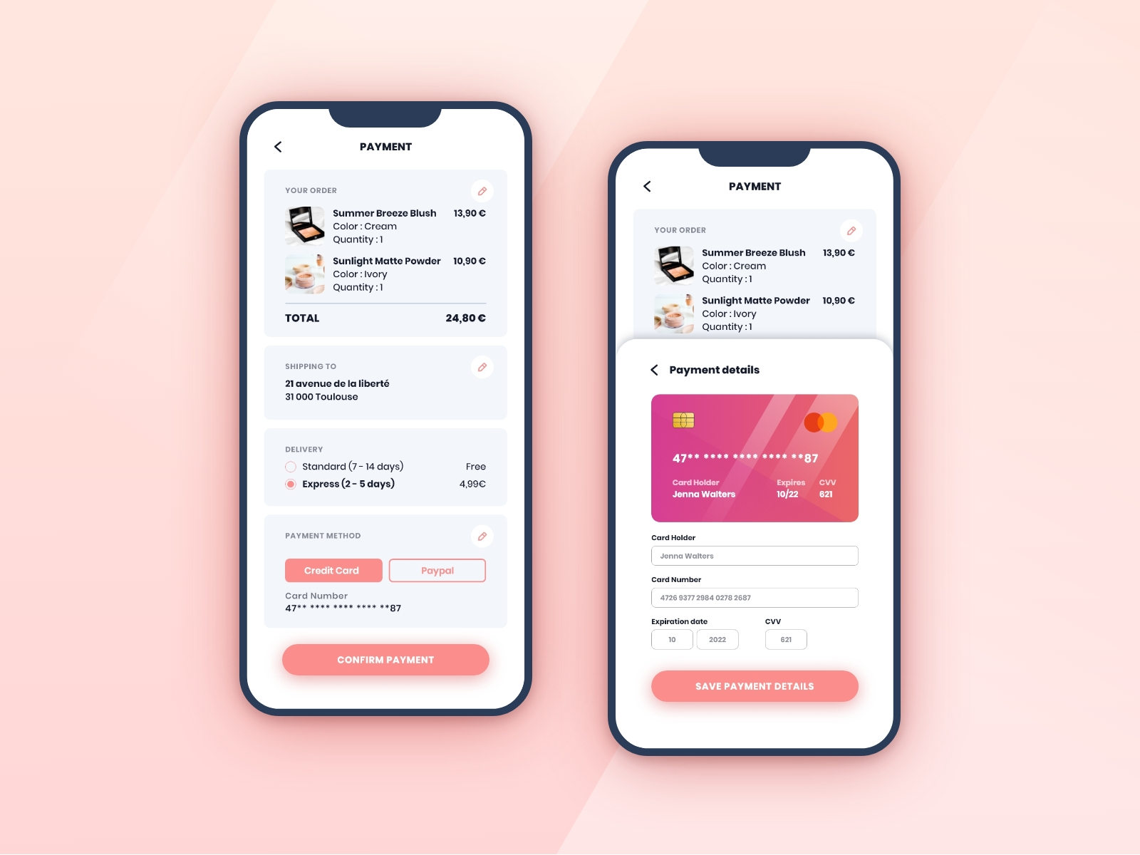02 - Credit Card Checkout - Dribbble